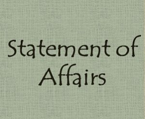 Statement of Affairs