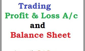 Trading profit and loss balance sheet example